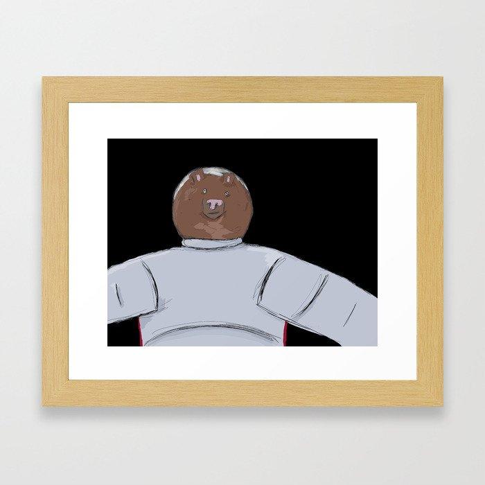 Bear in Space! Framed Art Print