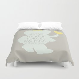 Babar inspired-May you never forget how much I love you Duvet Cover
