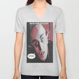 "'Count Orlock, the Vampire #3' from "" Nosferatu vs. Father Pipecock & Sister Funk (2014)"" Unisex V-Neck"