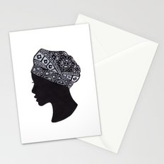 The Exotic of Turban Woman Stationery Cards