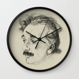 Albert Einstein, illustrated in 1923 Wall Clock