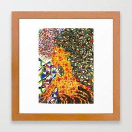 Yellow Girl Framed Art Print