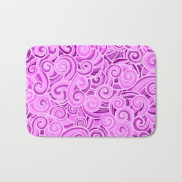 swirl violet Bath Mat