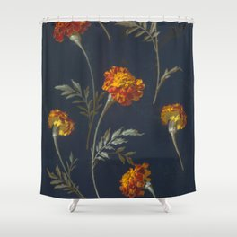 Vintage Marigolds Shower Curtain