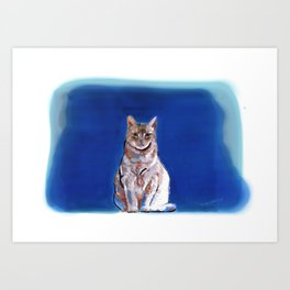 Moco Moco Mocha, the cat Art Print
