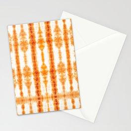 Tangerine Tiki Shibori Stationery Cards