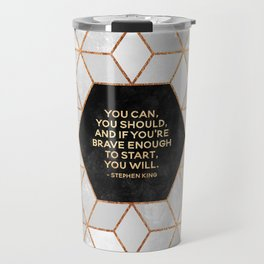 If you're brave enough / Design Milk Collab. Travel Mug