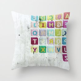 encrypted message Throw Pillow
