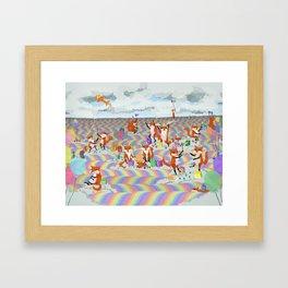 donna's birthday fox party Framed Art Print