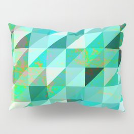 Vintage Blue & Green Pillow Sham