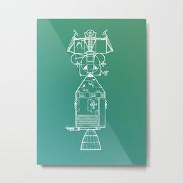 Real Spaceship Metal Print