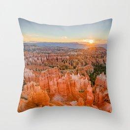 Bryce Canyon Sunrise Utah National Park Southwest USA Landscape Throw Pillow