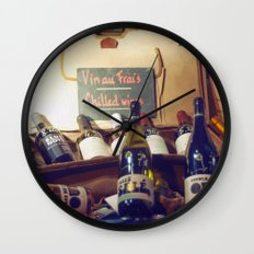 Vin au Frais: Chilled Wine Wall Clock