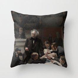 Thomas Eakins - Portrait of Dr Samuel D Gross (The Gross Clinic) Throw Pillow