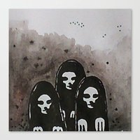 coven Canvas Prints featuring Coven by slakjawdyokel