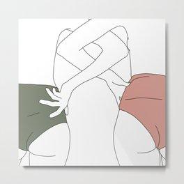 Figures line drawing - Elinor Metal Print