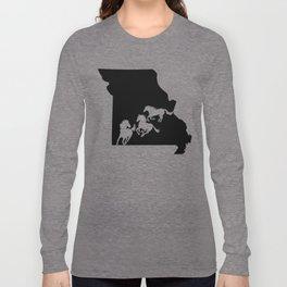 Missouri Fox Trotter Horse Lover Black Long Sleeve T-shirt