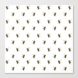 Bumblebee pattern Canvas Print