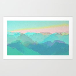 The Sun always rises Art Print