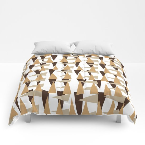 brown spearheads Comforters