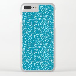 Crosshatch - Teal Clear iPhone Case