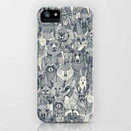 canadian animals indigo pearl iPhone Case