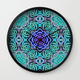 Echeveria Bliss Wall Clock