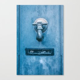 Blue Doorknocker Canvas Print