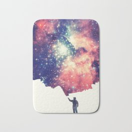 Painting the universe (Colorful Negative Space Art) Bath Mat