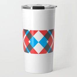 A Picture With Some Chevrons Travel Mug