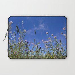Field of blooming wildflowers on a beautiful summer day Laptop Sleeve