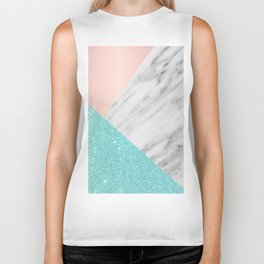 Real Italian Marble with Pink and Blue Biker Tank