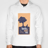 parks and rec Hoodies featuring Barks and Rec Logo by barksandrec