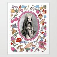 make up Art Prints featuring Make Up by Keren Richter