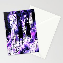 piano keys and music sheet pattern wseec80 Stationery Cards