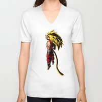 vegeta V-neck T-shirts featuring SS3 Vegeta by Prince Of Darkness