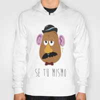 potato Hoodies featuring HIPSTER POTATO by Mike Wasousky Design