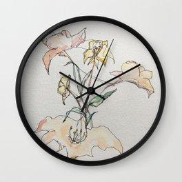 Resting flowers Wall Clock