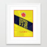 colombia Framed Art Prints featuring Colombia by liamhohoho