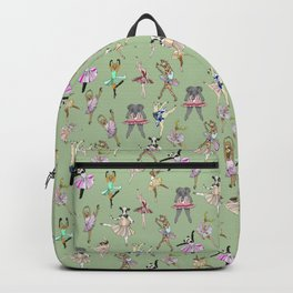 Animal Ballet Hipsters - Green Backpack