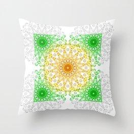 Mandala Calamar Throw Pillow
