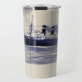 Red Star Line Antwerp New York Delft blue style Travel Mug