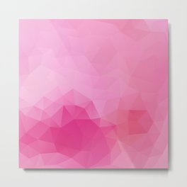 Triangles design in soft pink colors Metal Print