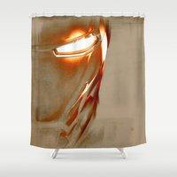 iron man Shower Curtains featuring Iron Man by Fernando Vieira