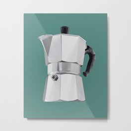 Coffee Moka Pot polygon art Metal Print