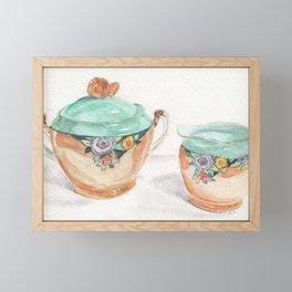 Sugar and Creamer Framed Mini Art Print