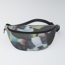 Boston Terrier and Puppies Fanny Pack