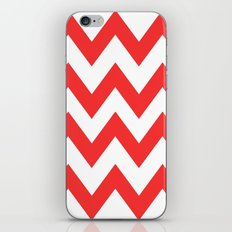 Red Chevron Lines iPhone & iPod Skin