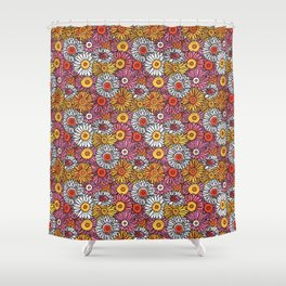 Daisy Pattern Shower Curtain