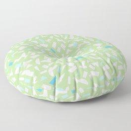 Semblance in green Floor Pillow